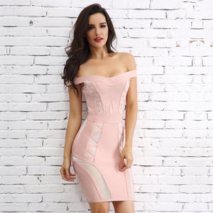Hot Baddie Clubbing Party Outfit Ideas for Women - Tight Bodycon Geometric Panel Mini Short Dress in Black / Nude / Pink - ideas atractivas del equipo del partido para las mujeres - www.GlamantiBeauty.com