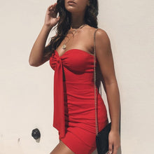 Hot Summer Party Outfit Ideas for Women Hot Bow Knit Dress Spring Strapless Tight Fitted Mini Short Dresses for Teens for Clubbing What to Wear Avaliable in Red, Blue, White, Black - www.GlamantiBeauty.com #dresses
