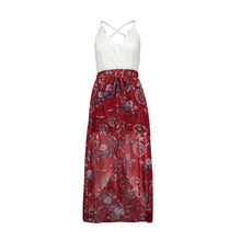 June White Lace Spaghetti Strap Backless Floral Flower High Low Summer Maxi Dress - www.GlamantiBeauty.com #dresses
