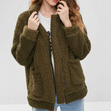 Cute Cozy Warm Fall Back to School Outfit Ideas for Teens for College - Aurora Popular Oversized Green Comfy Sherpa Teddy Jacket Pixie Coat I am gia dupe - www.Glamantibeauty.com