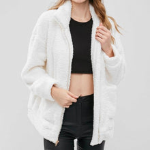 Cute Cozy Warm Fall Back to School Outfit Ideas for Teens for College - Aurora Popular Oversized White Soft Comfy Sherpa Teddy Jacket Pixie Coat I am gia dupe - www.Glamantibeauty.com