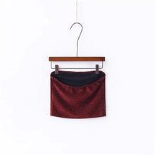 Casual Glitter Bling Cropped Tube Top Bandeau Bralette Urban New York Fashion Style in Burgundy Red - www.GlamantiBeauty.com