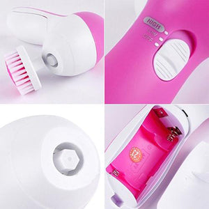 Mia Mia Pink Skin Cleansing Brush & Face Exfoliating Massager - www.GlamantiBeauty.com