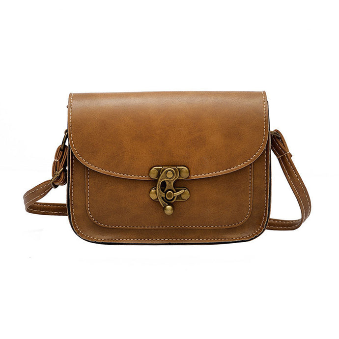 Deja Antiqued Pleather Vintage Rustic Crossbody Flap Shoulder Purse Bag - www.GlamantiBeauty.com