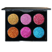 Makeup Products Rainbow Pressed Glitter Eyeshadow Palette Colorful Dramatic Eyes Makeup Ideas - www.GlamantiBeauty.com