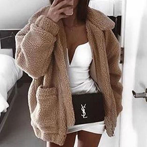 Cute Cozy Warm Fall Back to School Outfit Ideas for Teens for College - Aurora Popular Oversized Soft Comfy Sherpa Teddy Jacket Pixie Coat I am gia dupe - www.Glamantibeauty.com