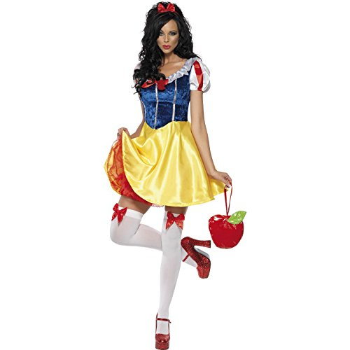 Cute Disney's Snow White Short Dress Womens Halloween Costume - www.GlamantiBeauty.com