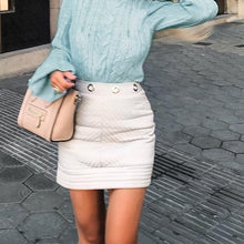 Cute Outfit Ideas for Teen Girls for School - Ruffle Turtle Neck Cable Knitted Bell Sleeve Fitted Tight Sweater - Lindas ideas de vestimenta para niñas adolescentes para la escuela - www.GlamantiBeauty.com