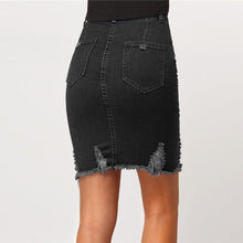 Casual Summer Outfit Ideas for Women 2018 - Black Vintage Distressed Denim Jean High Waisted Skirt - www.GlamanitBeauty.com