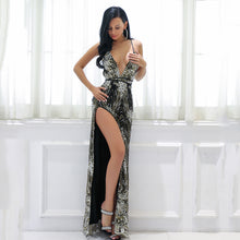 Sparkly Long Black Slit Prom Dresses - Floral Sequin Glitter Flowy Homecoming Graduation Gown Dress to Wear to a Wedding  - Vestidos de fiesta largos con hendidura negra brillante - www.GlamantiBeauty.com #promdresses
