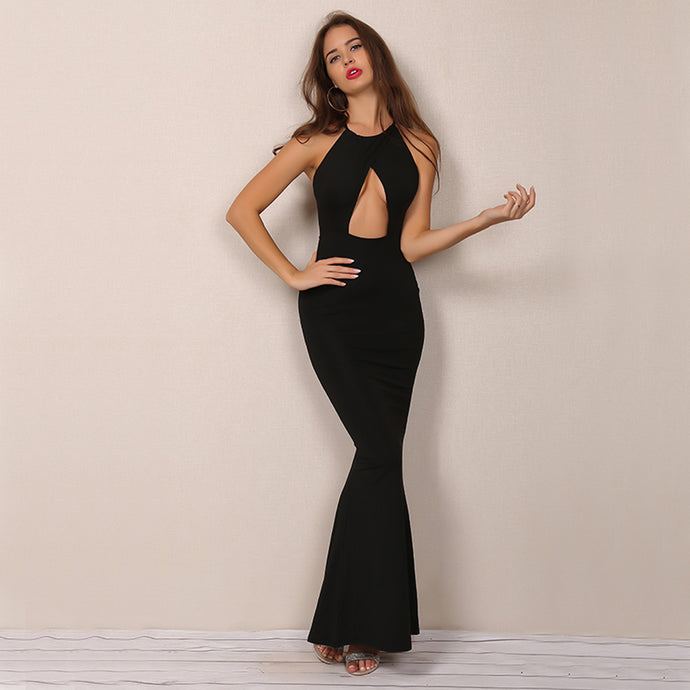 Modest Long Prom Dresses Outfit Ideas - Simple Backless Tight Fitted Black Mermaid Dress with Slit for Homecoming Graduation Evening Cocktail Party - Vestidos de fiesta largos modestos - www.GlamantiBeauty.com #promdresses