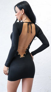Hot Baddie Dresses Outfit Ideas for Women - Tight Lace Up Backless Corset Black Dress for Going Out Night Party Bodycon - trajes de fiesta calientes ideas de atuendo para mujer - www.GlamantiBeauty.com #dresses