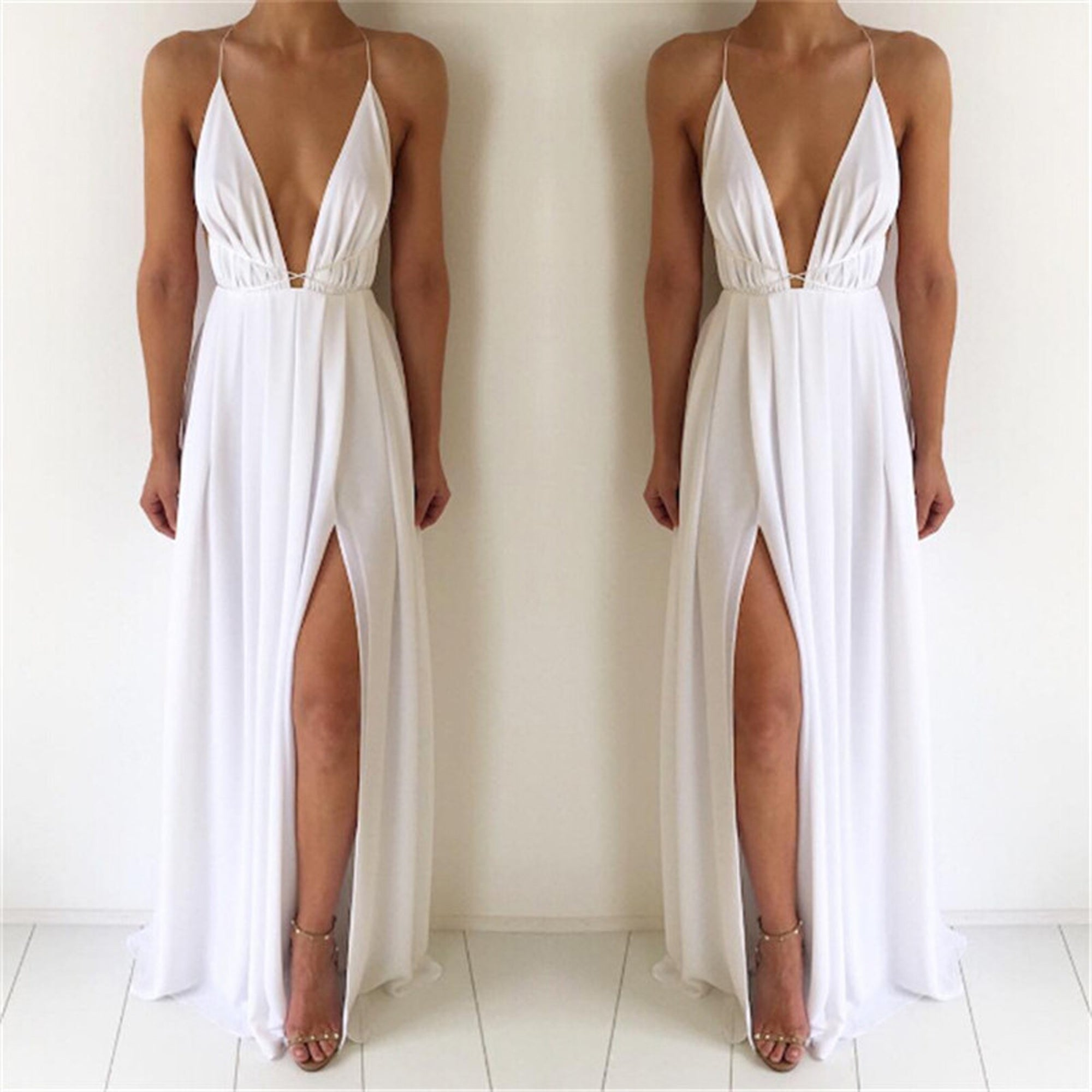 Simple Chiffon Maxi Dress