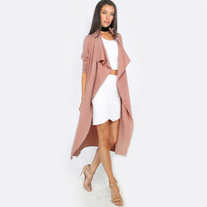 Party Going Out Womens Outfit Ideas for Winter Summer 2018 -  Ideas del equipo de la fiesta de invierno de las mujeres - Mauve Tie Up Trench Coat Cardigan - www.GlamantiBeauty.com