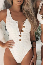 Cute White Boho Modest White Crotchet Button Up Monokini Swimsuit Bathing Suit for Women for Girls - www.GlamantiBeauty.com #swimwear