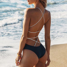 vCheeky Swimsuit Strappy Lace Up Criss Cross Backless One Piece Monokini Bathing Suit for Women - www.GlamantiBeauty.com #swimwear