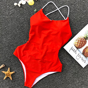 Baywatch Swimsuit - Cheeky Swimsuit Strappy Lace Up Criss Cross Backless One Piece Monokini Bathing Suit for Women - www.GlamantiBeauty.com #swimwear