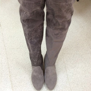 Arianna High Heeled Over the Knee Suede Thigh High Boots