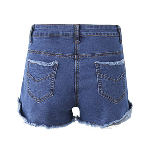 Modest Summer Outfit Ideas for Women or Teen Girls with Tie Up Jean Denim Shorts - ideas lindas del equipo del verano para las mujeres - www.GlamantiBeauty.com #summerstyle #outfits