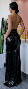 Sparkly Long Prom Dresses Outfit Ideas - Elegant Black Sequin Tight Mermaid Dress 2018 for Graduation Homecoming Evening Cocktail Party - Vestidos de fiesta largos brillantes - www.GlamantiBeauty.com #promdresses