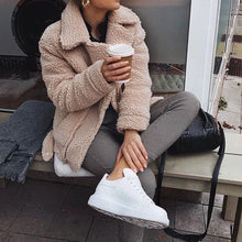 Cute Cozy Warm Fall Back to School Outfit Ideas for Teens for College - Aurora Popular Oversized Camel Soft Comfy Sherpa Teddy Jacket Pixie Coat I am gia dupe - www.Glamantibeauty.com