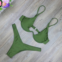Trendy Micro Underwire Two Piece Bikini Swimsuit for Women - www.GlamantiBeauty.com #swimwear
