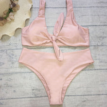 Trendy Swimsuit Bow Tie Up Popular Two Piece Hot Sexy Bikini in Nude Beach Outfit Ideas for Women for Teens - www.GlamantiBeauty.com #swimwear