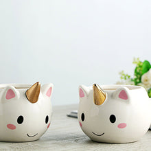 Cute Unicorn Mug Cup in White Rainbow Magic Ceramic Porcelain Handmade - www.GlamantiBeauty.com #cup