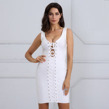 Hot Baddie Clubbing Cocktail Causal Party Outfit Ideas for Women - Tight Bodycon Lace Up Short Mini Dress is White / Black / Nude - ideas atractivas del equipo del partido para las mujeres - www.GlamantiBeauty.com #summerstyle #outfits