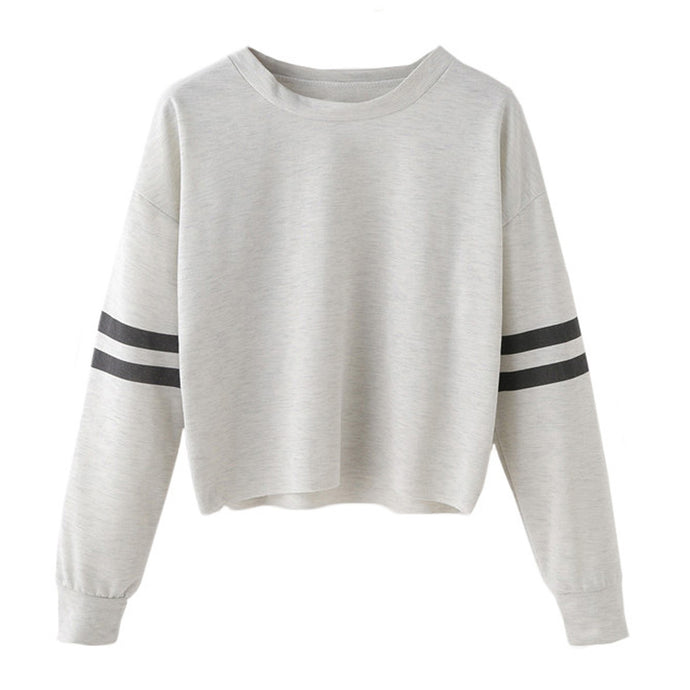 Back to School Outfit Ideas for Teens 2018 - Cropped Varsity Striped Sweatshirt Sweater - www.GlamantiBeauty.com