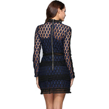 Genevieve Long Sleeve Lace Ruffle Mini Dress
