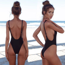 Slimming Sporty One Piece Cheeky Monokini for Teens - Hot Beach 2018 High Cut Scoop Backless Swimsuit for Women - traje de baño deportivo de una pieza para adolescentes - www.GlamantiBeauty.com #swimwear