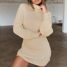 Hot Baddie Fall Winter Going Out Outfit Ideas for Women - White Burgundy Black Beige Ribbed Turtle Neck Fitted Sweater Dress - Linda caída saliendo de ropa para mujer - www.GlamantiBeauty.com