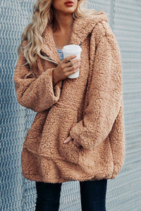 Trending Cute Casual Cozy Fall Winter Outfit Ideas for Women Sherpa Teddy Pixie Jacket for Women for Teen Girls - lindas ideas de trajes de otoño para mujeres - www.GlamantiBeauty.com #outfits