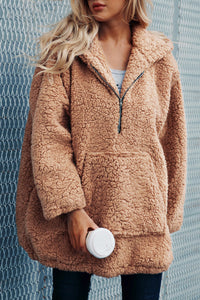 Brielle Popular Oversized Soft Comfy Sherpa Teddy Jacket Hoodie Sweater Coat