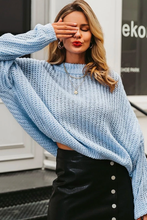 Sai Knitted Oversized Cropped Long Sleeve Sweater
