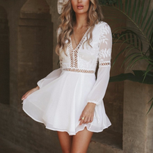 Cute Boho White Crochet Mini Spring Summer Dress Outfit Ideas - Spring Casual Modest Boho Bohemian Hippie Indie Style Fashion Music Festival -  ideas de trajes bohemios y moda - www.GlamantiBeauty.com