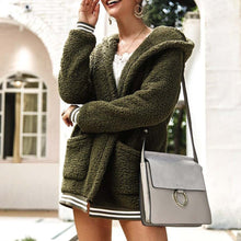 Cute Casual Winter Outfit Ideas for Women - Cozy Soft Sherpa Army Green Sweater Jacket - www.GlamantiBeauty.com