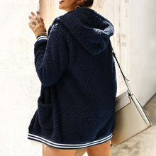 Cute Casual Winter Outfit Ideas for Women - Cozy Soft Sherpa Blue Sweater Jacket - www.GlamantiBeauty.com