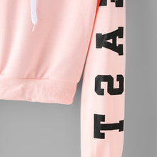 Abigail East Coast Pink Cropped Hoodie Sweater in Baby Pink
