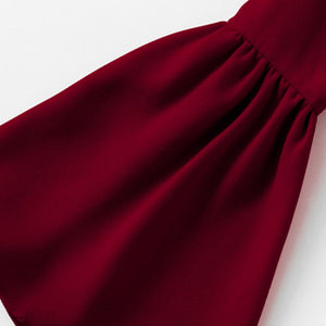 Cute Spring Crop Top Outfit Ideas for Women or Teen Girls 2018 - Off the Shoulder Ruffles Crop Top Long Sleeve Bell Sleeve Shirt Burgundy - www.GlamantiBeauty.com #springstyle #outfits
