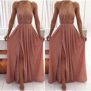 Elegant Formal Long Prom Dresses Outfit Ideas for Teens - Simple Modest Backless Mauve Strappy Chiffon Maxi Dress Cheap 2018 for Homecoming for Graduation - elegantes vestidos de fiesta largos formales Ideas de vestimenta para adolescentes - www.GlamantiBeauty.com