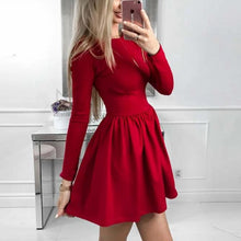 Cute Winter Christmas Outfit Ideas for Evening Dinner Party - A Line Skater Red Mini Dress for Women for Teen Girls - lindas ideas de ropa de invierno para mujeres - www.GlamantiBeauty.com #outfits