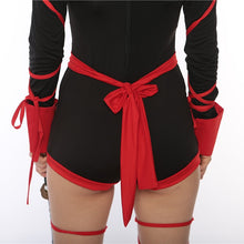 Cute Red Black Ninja Womens Hallow Outfit Ideas for Women - www.GlamantiBeauty.com