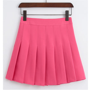 Serena Pleated Mini High Waisted Tennis Skirt
