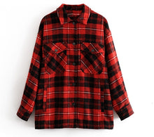 Casual Comfy Fall Outfit Ideas for Teen Girls for Women - Plaid Jacket in Red- www.GlamantiBeauty.com