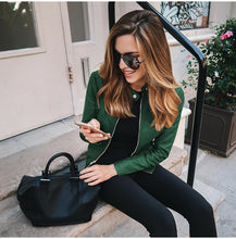 Green Edgy Trendy Leather Cropped Moto Jacked Fashion for Women - www.GlamantiBeauty.com #outfits