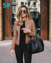 Brown Edgy Trendy Leather Cropped Moto Jacked Fashion for Women - www.GlamantiBeauty.com #outfits