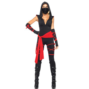 Cute Red Black Ninja Womens Halloween Outfit Ideas for Women - www.GlamantiBeauty.com