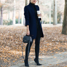 Classy Fall Outfit Ideas for Women - Elegant Peacoat Jacket in Dark Blue - www.GlamantiBeauty.com #outfits